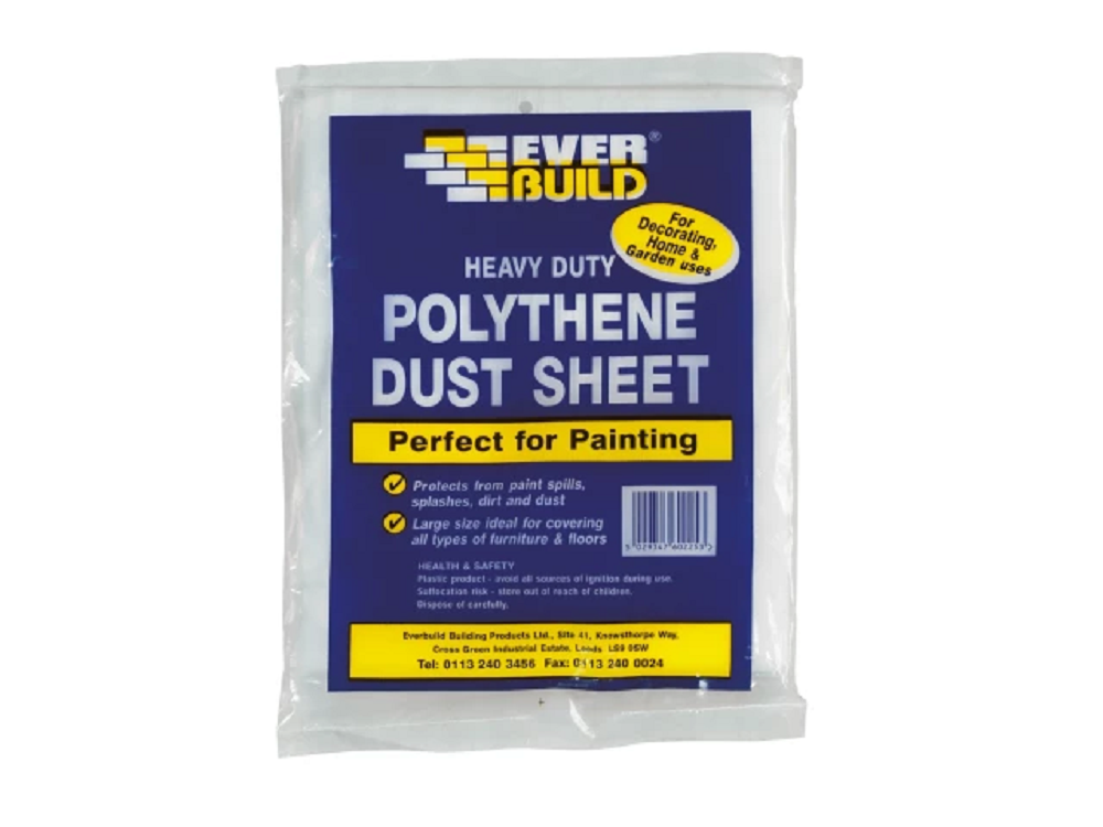 Everbuild POLYDUST Polythene Dust Sheet 3.6m x 2.7m (12ft x 9ft)