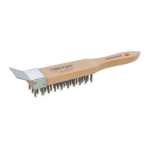 Silverline 763578 Brassed Wire Brush Plastic with 4 Row